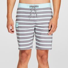 fe66ce7866 Men's Striped Juggernaut Board Shorts - Goodfellow & Co™ Blue 33