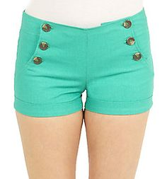 Girls 6 Button Sailor Short with Cuff $12.00