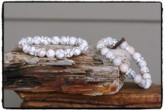 10mm Creamy White Tibetan Agate & Silver Plated Rhinestone Rondelle Stretch Bracelet, Winter White BOHO Luxe, Boho Chic, Chakra Surf Chic