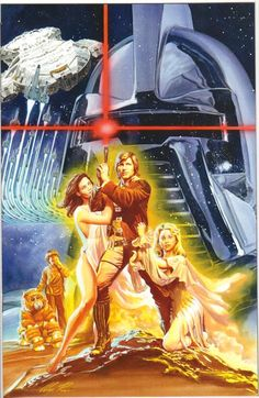 A poster for the original Battlestar Galactica, done in the style of the Hildebrant Star Wars poster.