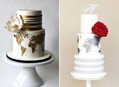 Inspire-se com 12 ideias de bolos com o tema viagem para a festa de 15 anos.
