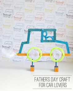Father's Day Craft: For Dad's Who Love Cars -