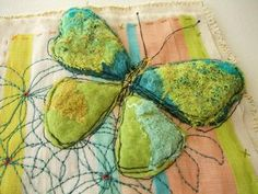 Pod Tutorial Update and a Felty Stitched Butterfly Picture! (rosiepink)