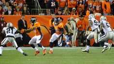 The Broncos vs. Raiders Monday night. Shots of the Game Monday Sep 23, 2013