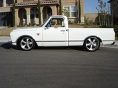 White 67 Chevy truck ●~●