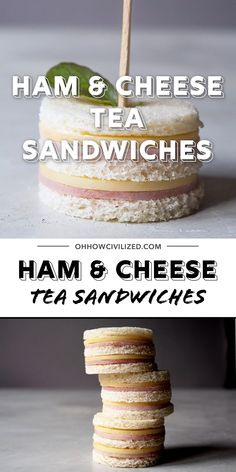 Movie Night Ideas Discover Easy Ham and Cheese Tea Sandwiches Cute ham and cheese sandwiches perfect for afternoon tea parties and snack time! Two bites and theyre gone. Toddler Tea Party, Girls Tea Party, Tea Party Birthday, Toddler Food, 4th Birthday, Afternoon Tea Parties, Sandwiches For Afternoon Tea, High Tea Parties, English Tea Sandwiches