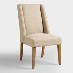 One of my favorite discoveries at WorldMarket.com: Khaki Herringbone Lawford Dining Chairs