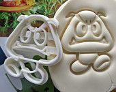 Super Mario Goomba Cookie Cutter / Made From Biodegradable Material / Brand New / Party Favor / Kids Birthday / Baby Shower / Cake Topper