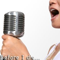 I want to take singing lessons.