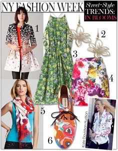 NY Fashion Week Street-Style Trends: In Blooms- client suggestions