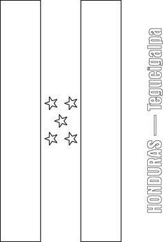 Honduras Flag Coloring Page