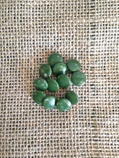 Button Lot Vintage Avocado Green Plastic Between 3/8 by PippinPost, $3.60