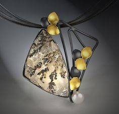 Winterthur by Judith+Neugebauer: Gold,+Silver+&+Stone+Necklace available at www.artfulhome.com