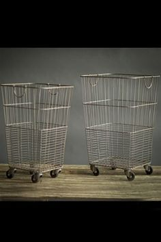 These retro industrial-style rolling laundry carts will aid you in navigating your domestic duties or a massive apartment complex. Perfect for storing and organizing your children's toys or displaying Rolling Laundry Basket, Laundry Cart, Laundry Baskets, Apartment Bathroom Design, Laundry Room Design, Farmhouse Style Furniture, Rustic Furniture, Diy Furniture, Rustic Outdoor Decor