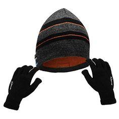 b66db7a562c4 Powcan Bluetooth Bonnet + Gants Tactiles Chapeau Musique Bonnet Connecté  Bluetooth avec Casque sans Fil Chapeau Chaud Tricoté, Cadeaux de Noël pour  Femme ...