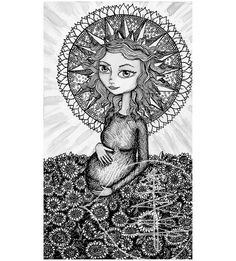 Tarot Card Art Print of The Sun 8x10 Print  of by treetalker, $18.00