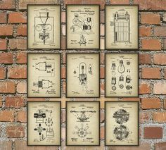Thomas Edison Patent Inventions Set Of 9 Camera by QuantumPrints