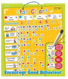 Doowell Magnetic Star Chart, Children and Toddler Toys, Gifts and Toys Good Behavior Chart, Behaviour Chart, Kids Behavior, Preschool Behavior, Star Chart For Kids, Charts For Kids, Astronomy Apps, Learning Activities, Activities For Kids