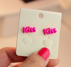 Fashion Fluorescence Color Kiss Stud Earrings,fluorescence color   ,free shipping,$ 5.99