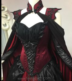 Crimson Moon Dragon Gown We are almost finished with our customer's gown~ We can't wait for our fitting with her! #dragon #fireflypath #crimson