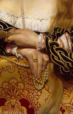 "Detail, 'Vanity"" (1907) by English Pre-Raphaelite painter & illustrator Frank Cadogan Cowper (1877-1958). Oil on canvas. via Artemis Dreaming"