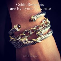 ❤️The Cable Bracelets #davidyurman Just trying to figure out how to get this stack!