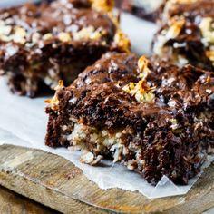 Easy Macaroon Brownies  Easy Macaroon Brownies with a creamy coconut filling.