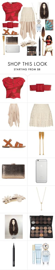 """Disney's Moana Inspired Outfit!"" by sisibff ❤ liked on Polyvore featuring Rachel Comey, Disney, Yves Saint Laurent, Barbara Casasola, Alice + Olivia, A.P.C., Native Union, L. Erickson, EF Collection and NARS Cosmetics"