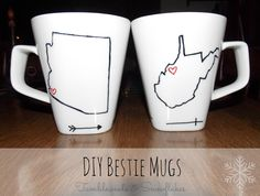 Bestie Mugs - could be for couples or best friends!