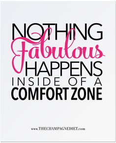 """NOTHING FABULOUS HAPPENS Print 8"""" x 10"""" – The Champagne Diet"""