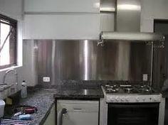 revestimento aço inox (chapas)parede cozinha balcões mesas