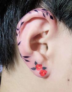 Helix ear tattoo ideas