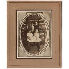 Woolsey Family 1900's Antique Mounted Photo Twin Boys Drug Store Interior Hubbell Nebraska