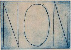 Marcel Duchamp, Non, 1959. Edition PAB, Alès, 7 x 10 cm