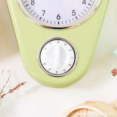 Reloj de cocina con temporizador de color verde #mrwonderfulshop #clock #timer #green