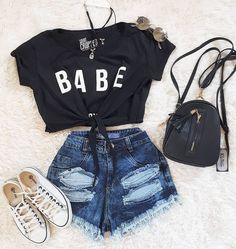 Outfits for Teens - Teenage Fashion: Girls Outfit Ideas For Teen Girls, Teenage Girl Outfits, Teen Fashion Outfits, Teenager Outfits, Outfits For Teens, Cute Lazy Outfits, Cute Casual Outfits, Edgy Outfits, Mode Outfits