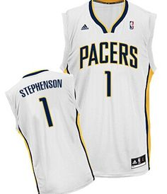 08d5d98f4 Indiana Pacers  1 Lance Stephenson White Swingman Jersey