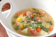 Couscous and vegetable soup