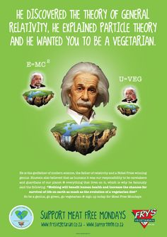 Einstein wants you to be a vegetarian