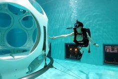 Have you ever thought you can also dive in a pool? Boring? It depends on the place! Nemo 33: the first deepest scuba diving pool in the world Nemo 33 in Brussels, Belgium, is the most amazing divin…