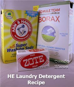 How to make powdered HE laundry detergent from Condo Blues. It works in all washing machines!