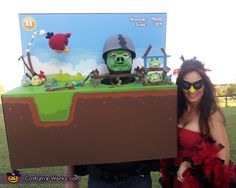 Angry Birds Costume Idea for Couples - Halloween Costume Contest via @costumeworks