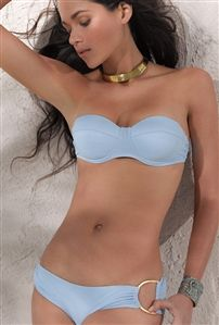 L*Space Sweet & Chic Diva D Ring Bottom in Powder Blue