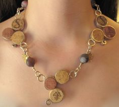 Sterling Silver Fine Wine Cork Necklace-RESERVED FOR by lfailoni