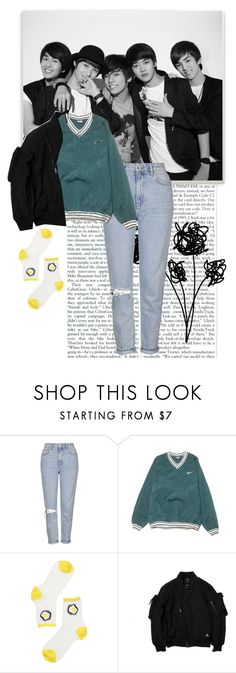 """""""SHINee"""" by sumire-gbrl ❤ liked on Polyvore featuring Topshop, NIKE and Monki"""