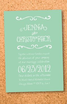 Order your personalized wedding invitation at Boardman Printing. Visit www.facebook.com/BoardmanPrinting