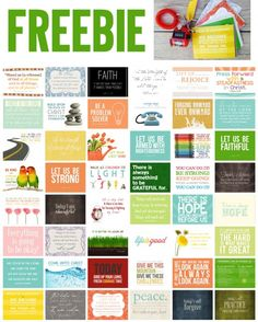FREE Happy Thoughts Cards 3x4