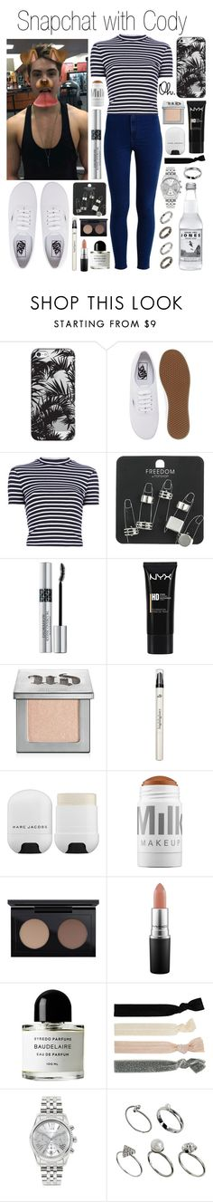 """""""Snapchat with Cody Christian"""" by plnzh ❤ liked on Polyvore featuring Topshop, Casetify, Vans, T By Alexander Wang, Christian Dior, NYX, Urban Decay, BBrowBar, Marc Jacobs and MILK MAKEUP"""