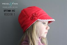 NEW Uptown Hat pattern and tutorial 12Mteen easy by heidiandfinn, $6.00