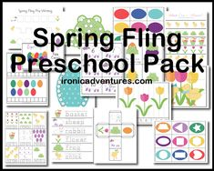 Free Spring Fling Printable Preschool Pack